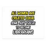 Todas las mujeres son bibliotecarios creados del i tarjetas postales
