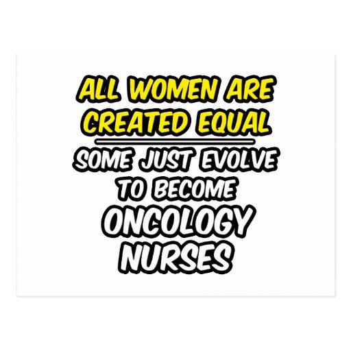 Todas las mujeres son enfermera creada de la oncol postales