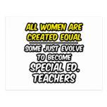 Todas las mujeres son igual creado. Ed especial. P Tarjeta Postal