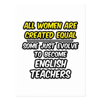 Todas las mujeres son profesores de inglés creados tarjeta postal