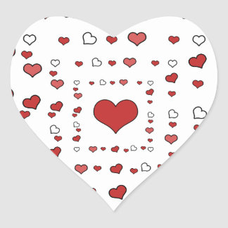 Todas las ocasiones, sellos de los pegatinas del pegatina en forma de corazón