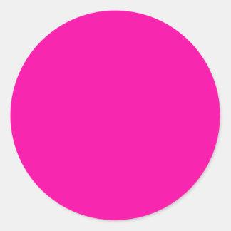 Todas las rosas fuertes nada pero colorean rosa pegatina redonda