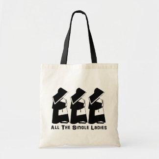 Todas las solas señoras bolsas lienzo