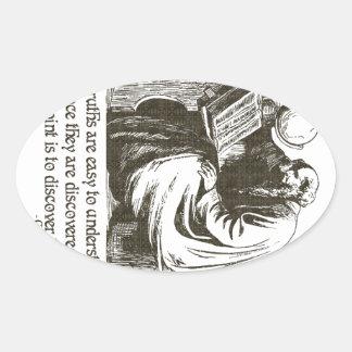 Todas las verdades pegatinas ovales