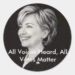 Todas las voces oídas, todos los votos… pegatinas