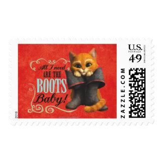 Todas lo que necesito son las botas (el color) sellos postales
