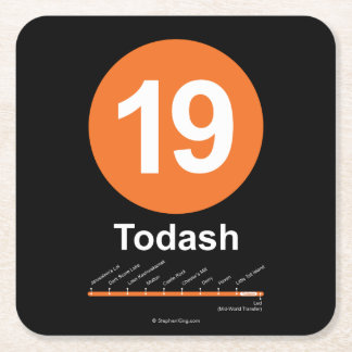Todash Square Paper Coaster