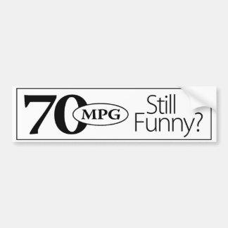 ¿todavía 70mpg divertido? Pegatina para el paracho Pegatina Para Auto