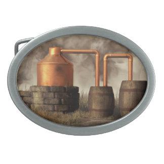 Todavía alcohol ilegal del pantano hebilla de cinturon oval
