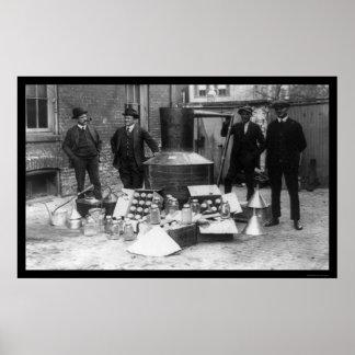 Todavía alcohol ilegal IRS 1922 Póster