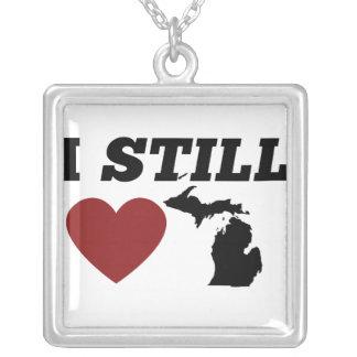 Todavía amo Michigan Colgante Cuadrado