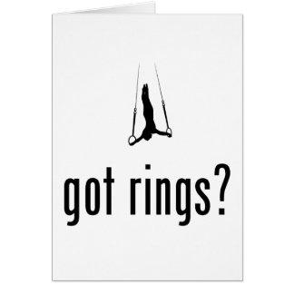 Todavía anillos tarjeta pequeña