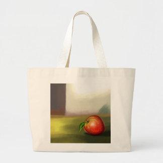 todavía bolso de la manzana de la vida bolsa tela grande