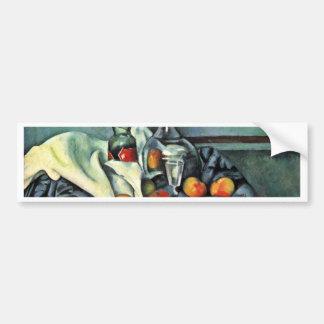 Todavía botella de la hierbabuena de Paul Cézanne Pegatina De Parachoque
