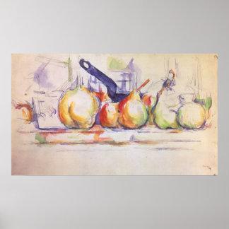 Todavía cazo de la vida por Cezanne arte del Posters
