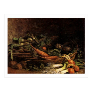 Todavía cesta de la vida de verduras, Vincent van  Postal
