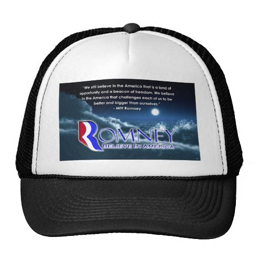 """""""Todavía creemos… """"- Romney 2012 Gorro De Camionero"""