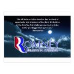 """""""Todavía creemos… """"- Romney 2012 Tarjetas Postales"""
