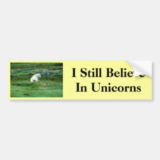 Todavía creo en unicornios pegatina para auto