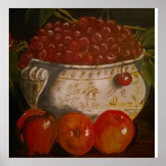 Todavía cuenco de fruta de la vida impresiones