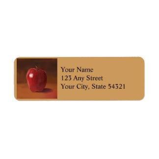 Todavía de Apple etiquetas rojas del remite de la Etiqueta De Remitente