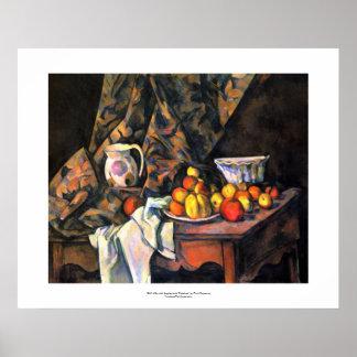 Todavía de Cezanne arte del bonito del florero de  Posters