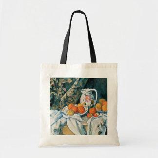 Todavía de Cezanne cortina de la vida, jarra Bolsa Tela Barata