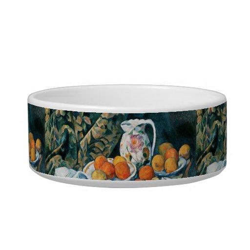 Todavía de Cezanne cortina de la vida, jarra Comedero Para Mascota