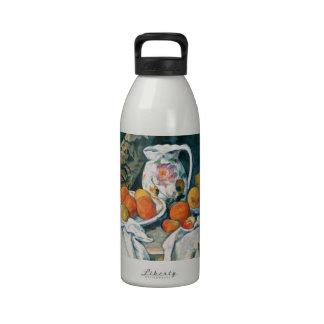 Todavía de Cezanne cortina de la vida, jarra flore Botella De Beber