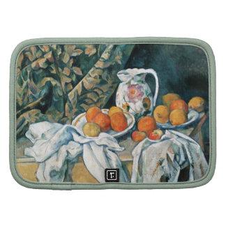 Todavía de Cezanne cortina de la vida, jarra flore Organizador