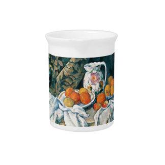 Todavía de Cezanne cortina de la vida, jarra flore
