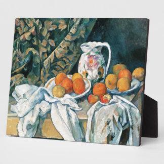 Todavía de Cezanne cortina de la vida, jarra Placas Para Mostrar