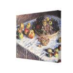 Todavía de Claude Monet vida con las manzanas y Lienzo Envuelto Para Galerias