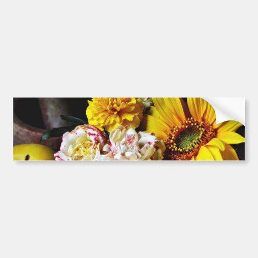 Todavía de la flor vida pegatina de parachoque