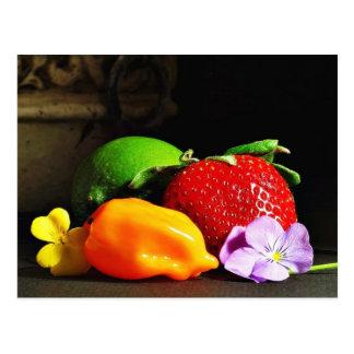 Todavía de la fruta cales Pepp de las fresas de Sr Postales