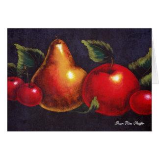 Todavía de la fruta tarjeta de nota de la vida