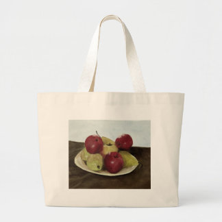 Todavía de la fruta vida bolsa tela grande