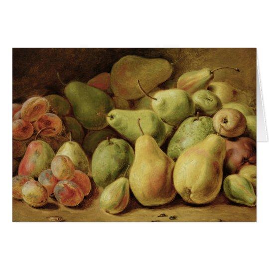 Todavía de la fruta vida tarjeta de felicitación