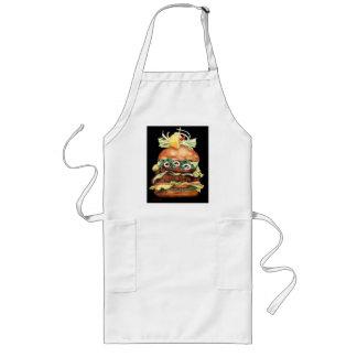 Todavía de la hamburguesa vida de Laurie Mitchell Delantales