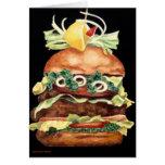 Todavía de la hamburguesa vida por la tarjeta de L