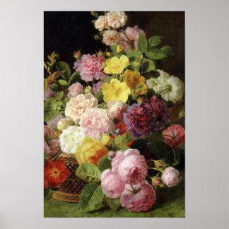 Todavía de las flores vida mezclada holandesa herm posters