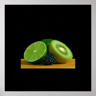 todavía de las frutas poster de la vida