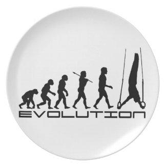Todavía de los anillos arte de la evolución del de platos para fiestas
