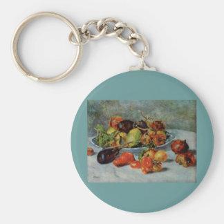 Todavía de Renoir la vida con Fruit mediterránea, Llavero Redondo Tipo Pin