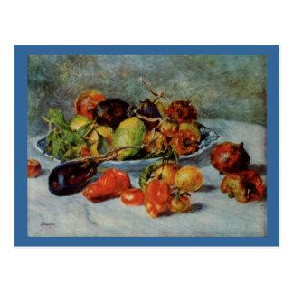 Todavía de Renoir la vida con Fruit mediterránea Postal