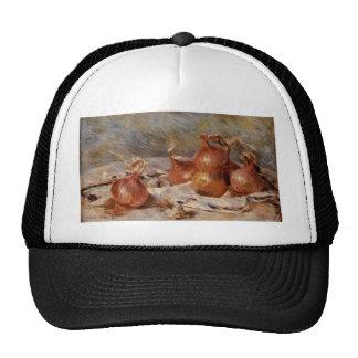 Todavía de Renoir la vida con las cebollas (1881) Gorro