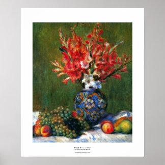 Todavía de Renoir pintura del arte de las flores y Posters