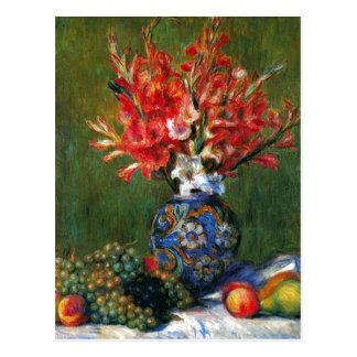 Todavía de Renoir pintura del arte de las flores y Postales