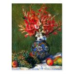 Todavía de Renoir pintura del arte de las flores y Tarjetas Postales