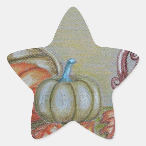 Todavía de Thankgiving vida Pegatina En Forma De Estrella
